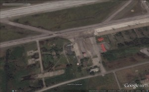 Visible here are some helicopters and a fighter/trainer. Image: GoogleEarth